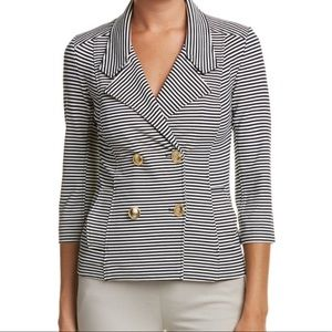 Cabi Navy Striped Blazer